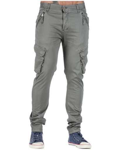 ΑΝΔΡΙΚΑ ΡΟΥΧΑ :: Παντελόνια :: Παντελόνι Cargo New Age Grey - OEM