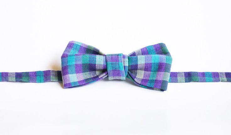 Purple and Grey Check