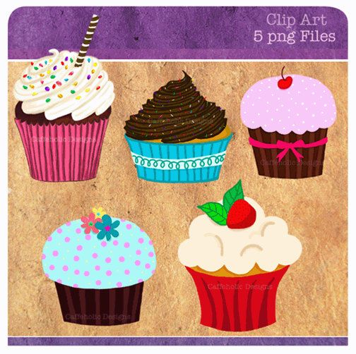 Cupcake Clip Art digital clipart cupcakes personal or by DigiCaffe, $3.50