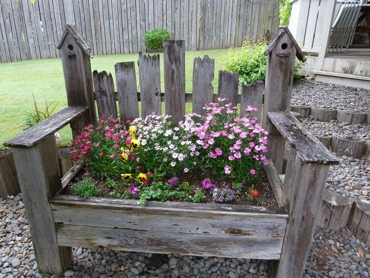 154 best for the home images on pinterest home ideas for Flower bench ideas