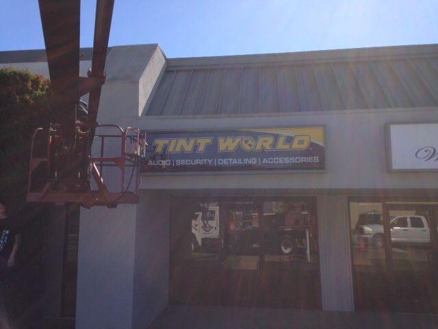 Tint World Morgan CA | New Sign Installed