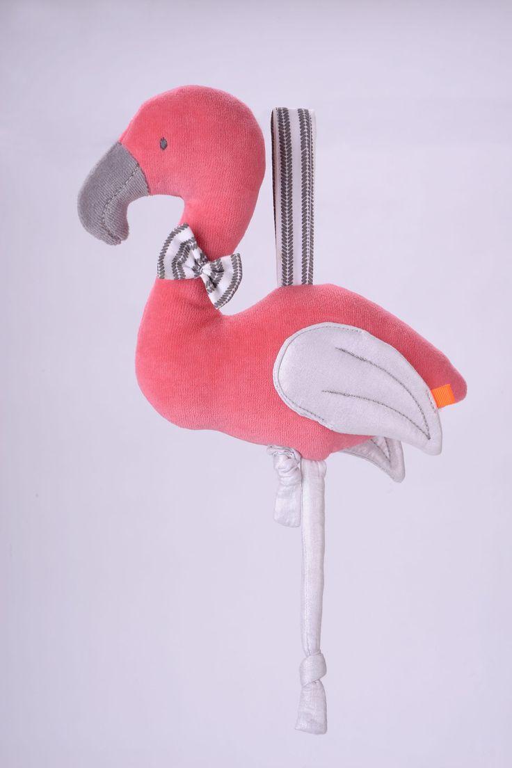 Hochwertige FLAMINGO Spieluhr für beruhigende Stunden aus dem Hause KIKADUDie liebevoll gestaltete FLAMINGO Spieluhr aus der neusten Kollektion von KIKADU wird ihr Baby begeistern.