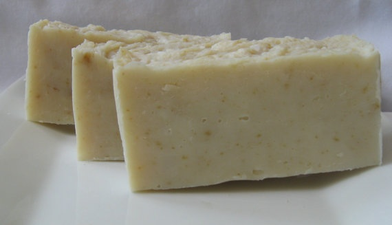 OATMEAL and HONEY Cold Process Face Soap by PSILoveSoapCo on Etsy, $4.50