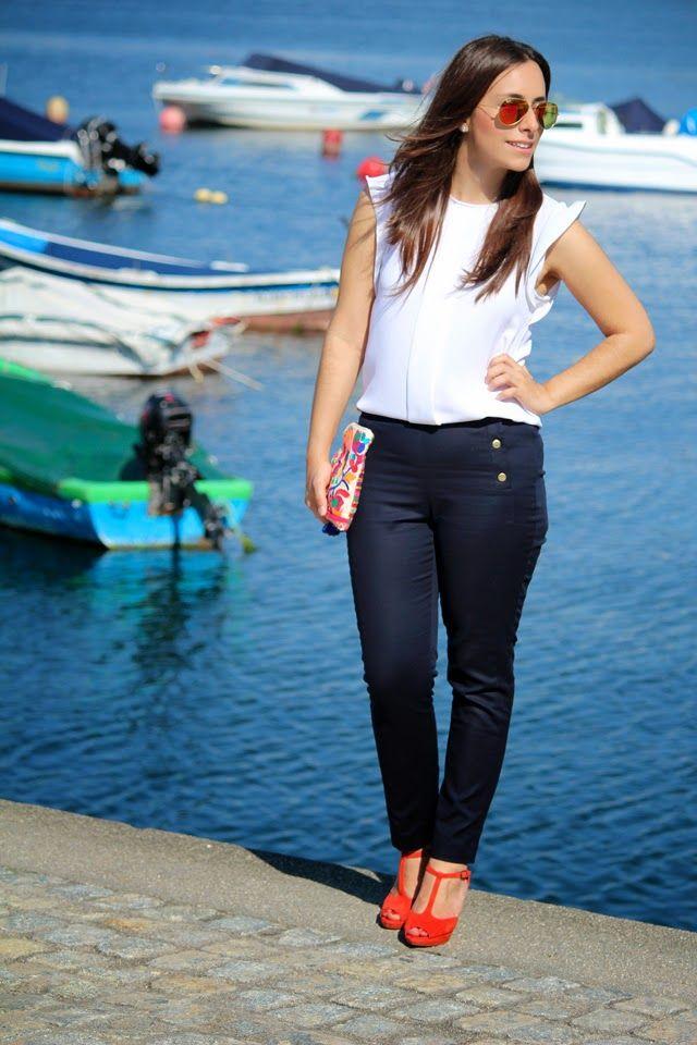 Look tendencia Marinera #azulmarino #taconesrojos #nauticalstyle