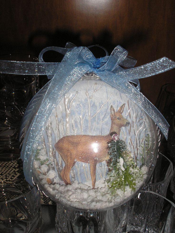 #decoupage #christmas #ornament #bombki #Stella #ντεκουπάζ #Χριστούγεννα #μπάλα