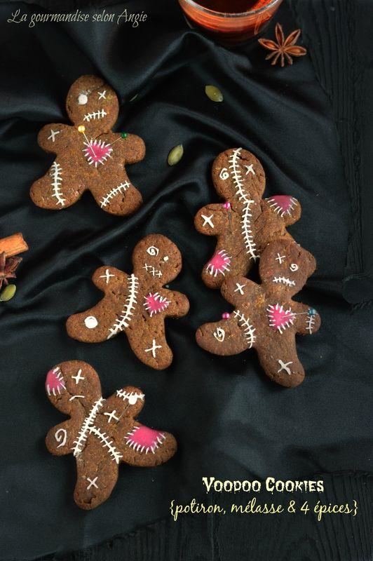 voodoo cookies- recette halloween {cookies potiron, mélasse 4 épices}…