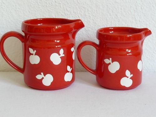 Wächtersbach Graziela 2 Krüge Apfeldekor Pop Art 70s | eBay