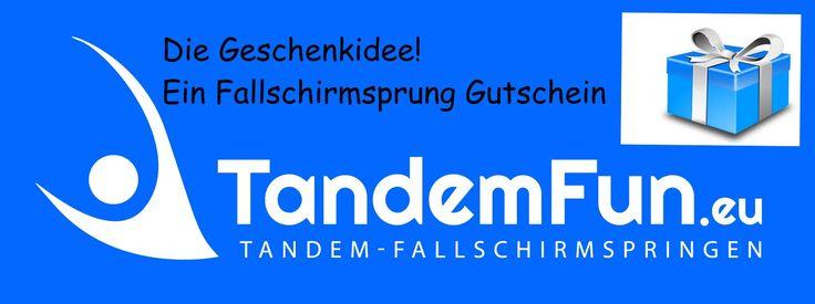 Die Geschenkidee! Ein Fallschirmsprung über Bayern mit Tandemfun. Fallschirmspringen 4200m und 6000m.