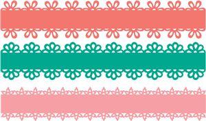 Silhouette Design Store - View Design #8848: 3 flower borders
