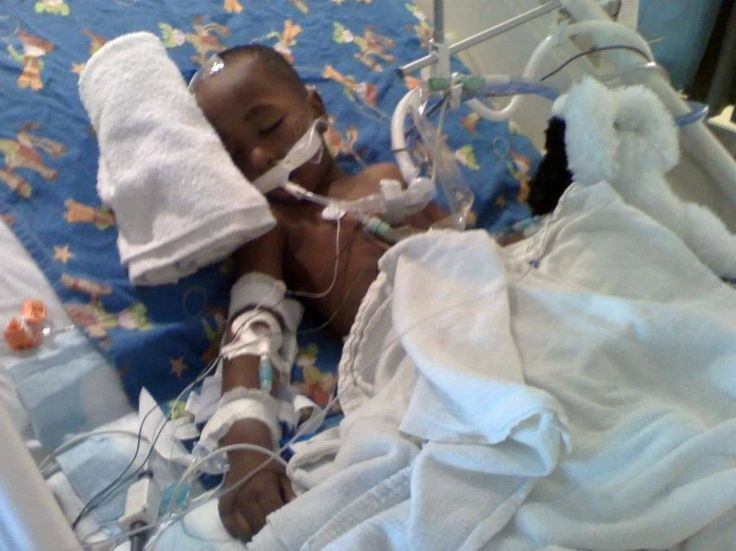 Camryn's initial hospital stay at Children's Hospital of Atlanta. When we first learned the news he had a tumor. He was so very tiny. Since Camryn's passing in 2012, 'Six' more children from Troup County has passed away in a one year period. What a waste of precious human lives. We must find a Cure.