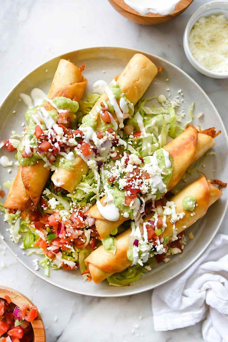 Chipotle Chicken Taquitos | foodiecrush.com