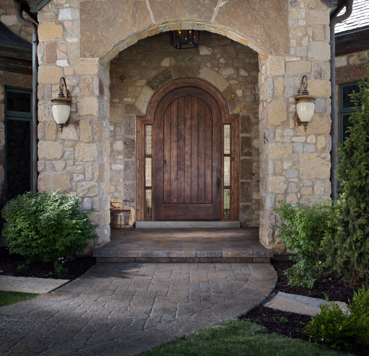 5 Ways To Add Landscape Lighting To Concrete Hardscaping: Belgard Hardscapes Inspired #MegaBergeracPaver Walkway In