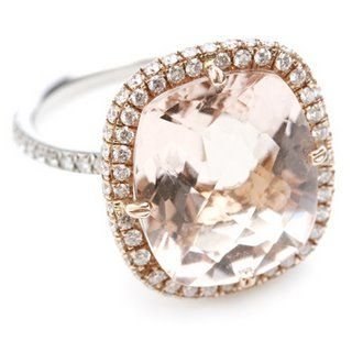 I love this morganite ring.  The mixed metal setting = more versatile for matching with both white/silver and gold jewelry