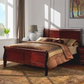 Shop for Furniture of America Mayday II Paneled Cherry Sleigh Bed. Get free shipping at Overstock.com - Your Online Furniture Outlet Store! Get 5% in rewards with Club O! - 18496697