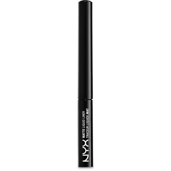 Nyx Professional Makeup  Matte Liquid Liner ($7) ❤ liked on Polyvore featuring beauty products, makeup, eye makeup, eyeliner, liquid eye-liner, nyx, liquid eye liner, liquid eyeliner and nyx eyeliner