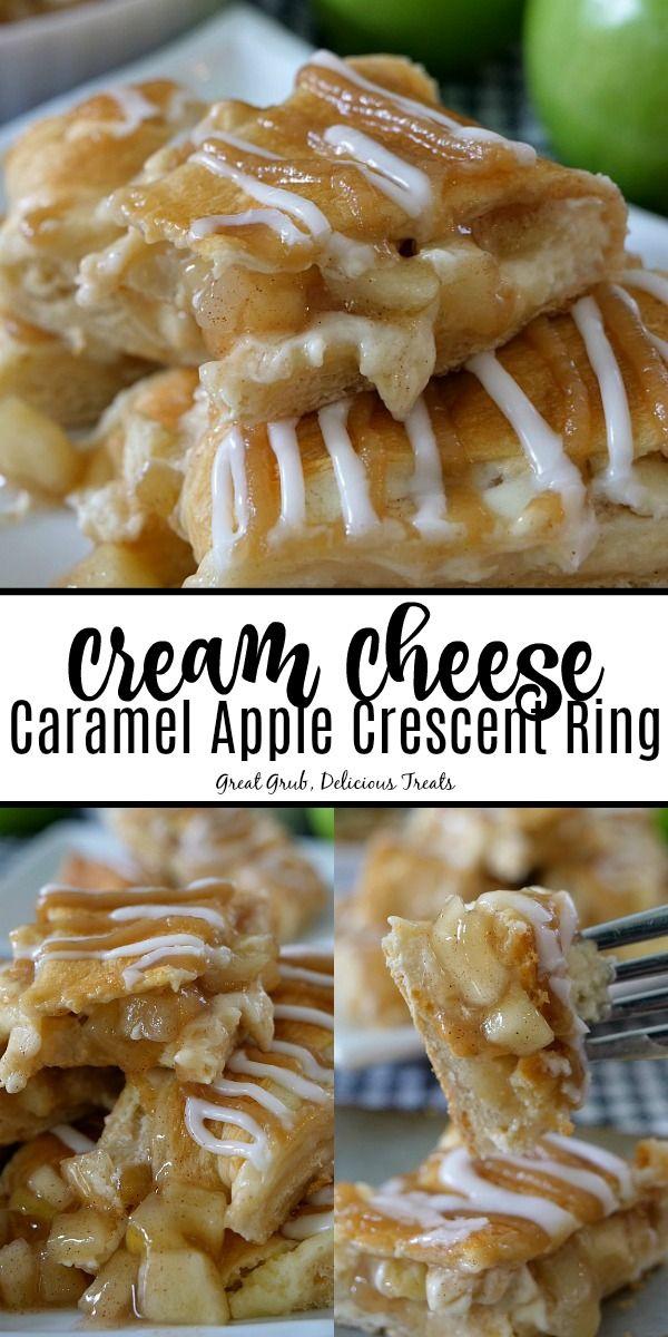 Cream Cheese Caramel Apple Crescent Ring