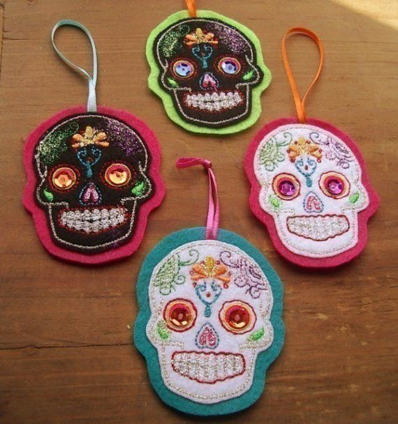 Perfect sugar skull ornaments on etsy!