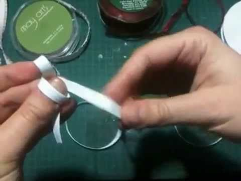 ▶This is a fabulous tutorial on tying easy, perfect bows while ribbon is still on the spool. Similar to mine with tweezers, but no tools necessary with this technique. A must for those of you who struggle with bow tying
