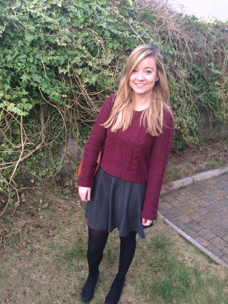 Penneys/Primark burgundy jumper. Miss Selfridge skirt, more on The Savvy Styler blog.