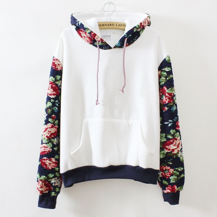 White Hoodie with Rose Print                                                                                                                                                                                 More