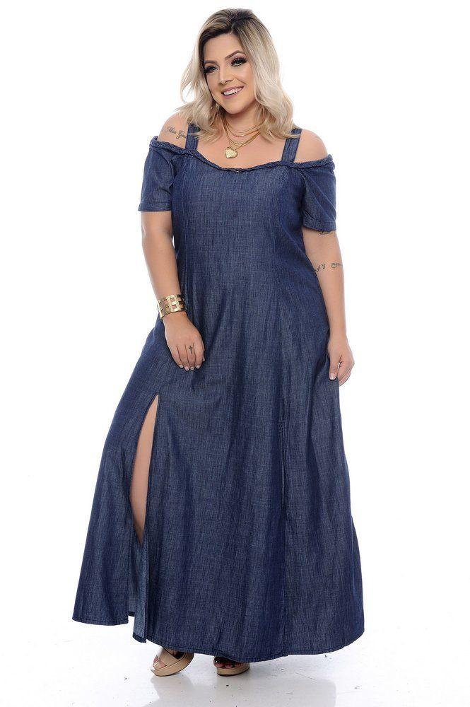 511118a82 Vestido Jeans Plus Size Sansha | Daluz Plus Size - Loja Online - Daluz Plus  Size | A Loja Online Plus Size que mais cresce no Brasil!