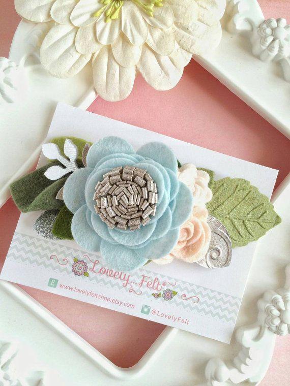 Mini Felt Flower Crown Headband. Pastel Floral от LovelyFeltShop