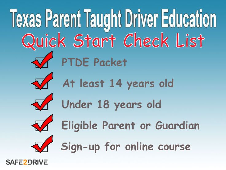 Checklist for getting your drivers license with texas