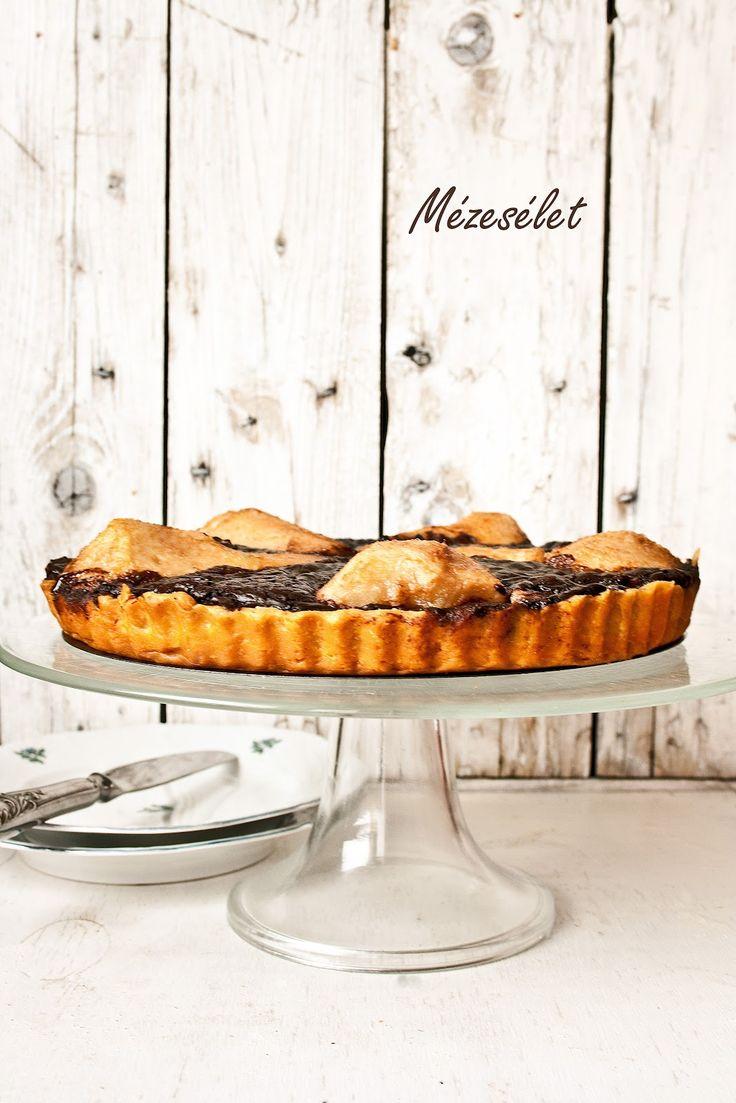Mézesélet: Csokoládés-körtés pite
