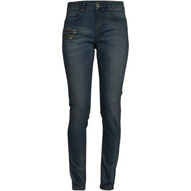 Diamond hw blue zip jeans