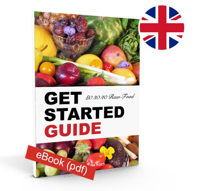 This is an easy 'Get Started Guide' (digital ebook – 38 pages ) so that you can get started with the 80/10/10 raw food diet today. You will get lists of what to eat and what not to eat, tips for shopping/ food preparation, calorie intake, easy to make recipes.  http://fruitylou.com/product/green-smoothies-for-health/