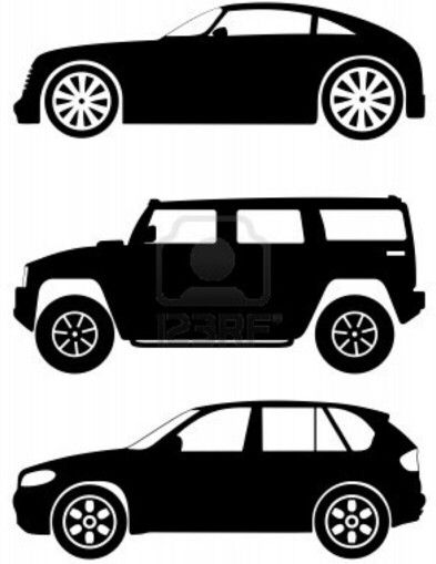 Great Cars Template/ Stencil. Great for a Mural (Chalk Paint) in a Boys Room. From 123RF.com