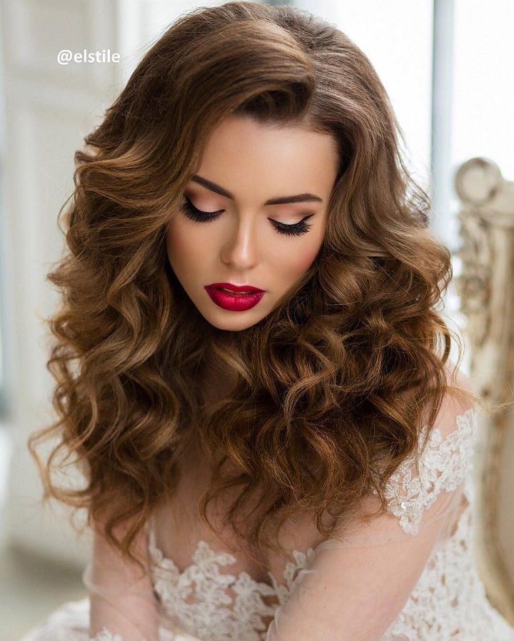Wedding Hairstyle All Down : Best ideas about wedding hair down on half
