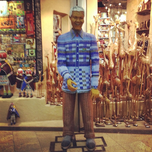 African beaded life sized sculpture of Nelson Mandela....Proudly South African