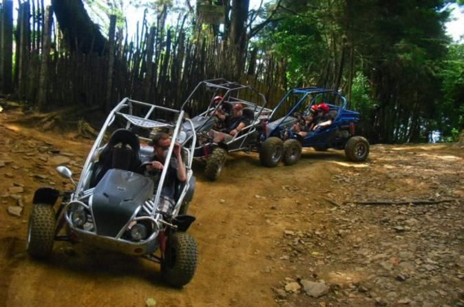 Laguna Verde Dune Buggy Adventure with Optional Flowers Route Tour 			Get wild, and a little bit dirty, on this 6-hour dune buggy tour from San Salvador that is a fun blend of adventure and beautiful nature. Hop in your dune buggy and be prepared to see the landscape in a different way. Gawk at the stunning Laguna Verde and Laguna de las Ninfas. Ride along the Ruta de las Flores (Flowers Route), famed for its scenery, and spend time in the town of Apaneca. Upgrade to include a...