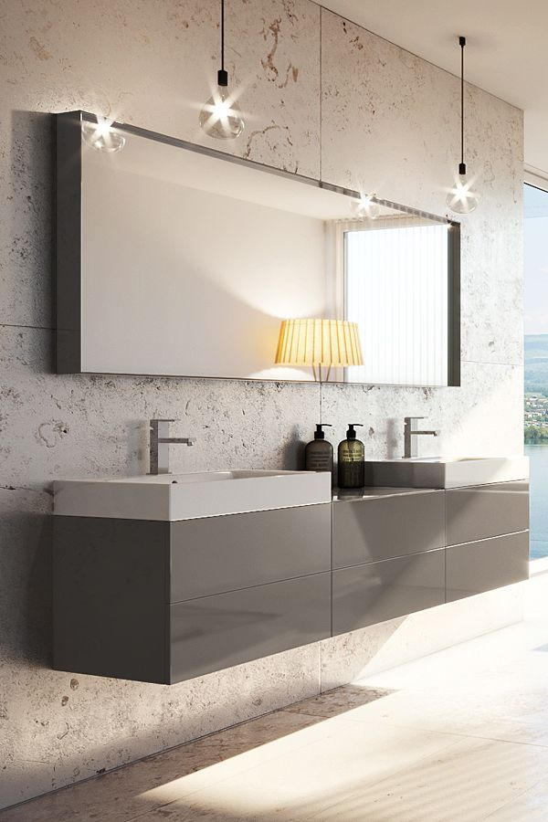 Diesen 180 Cm Langen Badezimmerschrank Erh Lst Du In Unterschiedlichen Farben Und Oberfl Chen In 2020 Cheap Bathroom Remodel Double Vanity Bathroom Bathroom Units