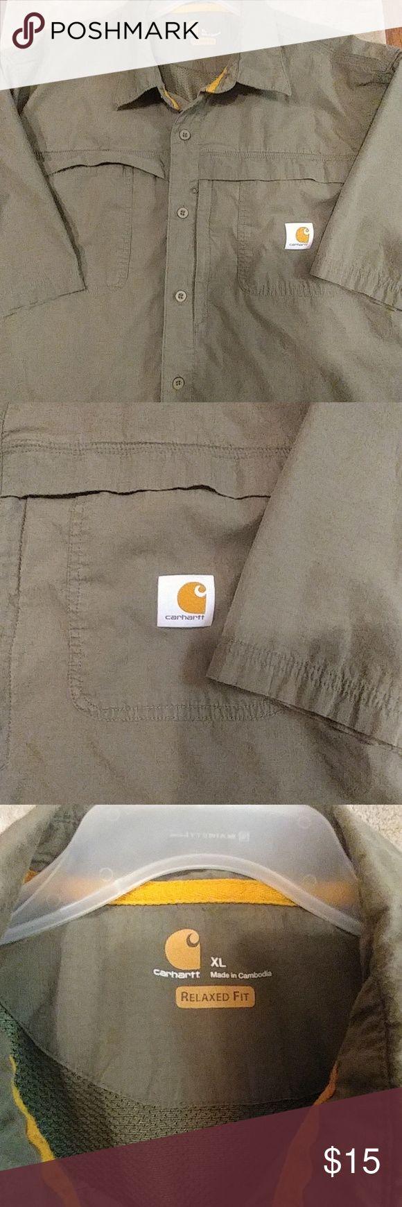 CARHART BUTTON DOWN XL Relaxed fit Carhart Carhartt Shirts Casual Button Down Shirts