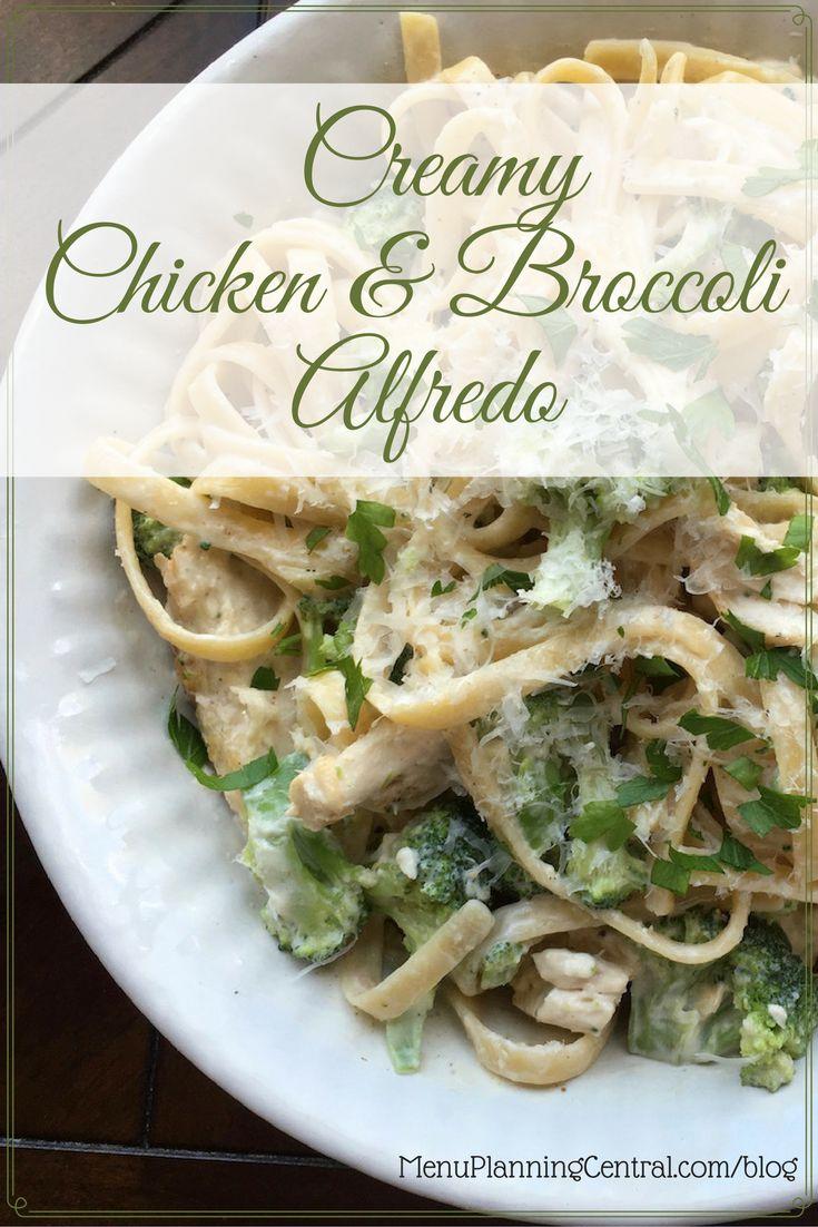 Creamy Chicken Broccoli Alfredo