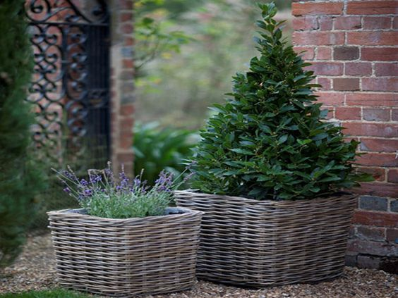 Attractive, practical baskets for indoor or outdoor use