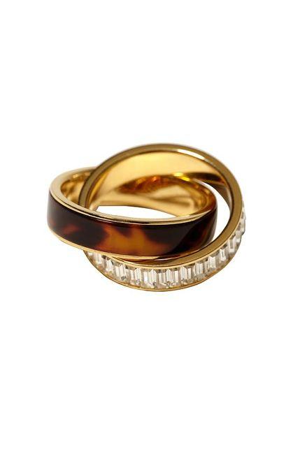 Michael Kors Tortoiseshell Baguette Ring.