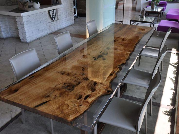 Дерево в интерьере: как использовать по модному. Resin TableWooden  FurnitureFurniture ...
