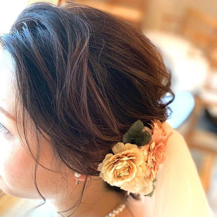 wedding hair  #ブライダルヘア #ブライダルヘアメイク #ヘアメ…
