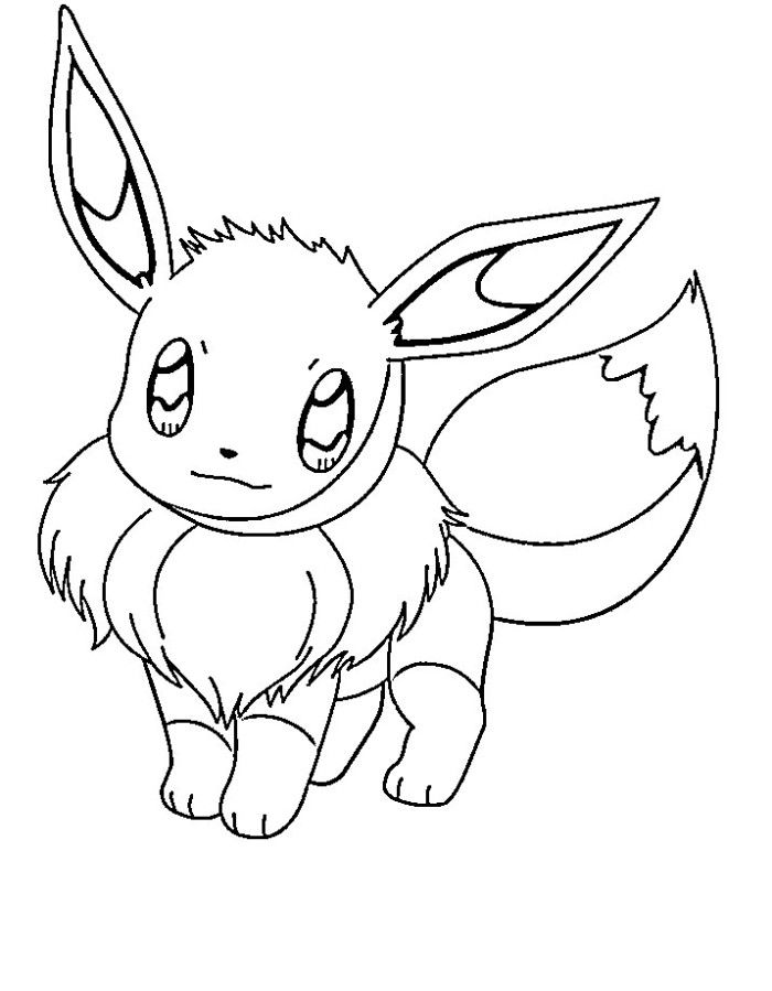 Cute Eevee Pokemon Coloring Pages - Pokemon Coloring Pages : KidsDrawing – Free Coloring Pages Online