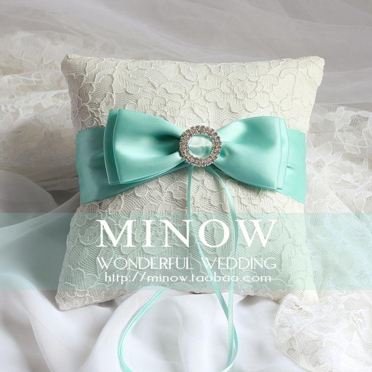 Тиффани Синий Tiffany кольцо синий лук подушки вышитые 01