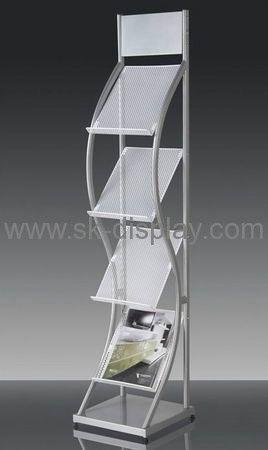 A4 metal leaflet display shelf BD-015