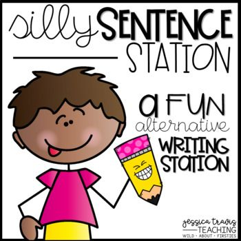 "This station is sure to be a student favorite!   With multiple ways to set up in your classroom, your students will be building, writing, and illustrating a variety of silly sentences!   I have included the ""who"", ""did what"", and the ""where"" for an extension while writing!  Each of the cards includes the picture AND the word to allow for easy and independent success!"