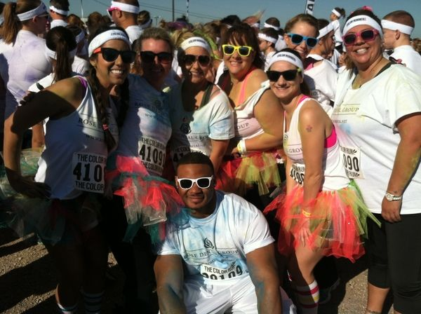 On Saturday, May 4, 2013 Rose Dental Group employees joined 15,000 people at The Travis County Expo Center for the Happiest 5k on the planet………. The Color Run! We had a blast running for a great cause and helping support the fight against colon cancer! #RDGinCommunity #ColorRun5K