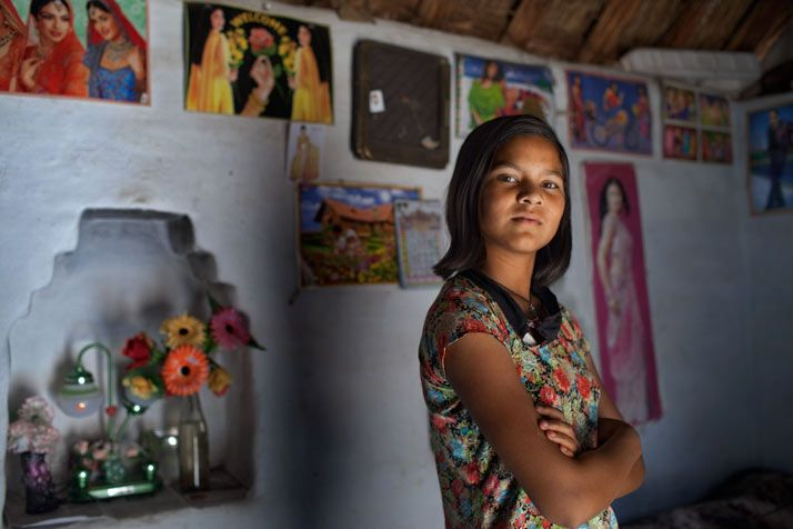 "When Sunil's parents arranged for her marriage at age 11, she threatened to report them to police in Rajasthan, India. They relented, and Sunil, now 13, stayed in school. ""Studying will give her an edge against others,"" her mother now says."