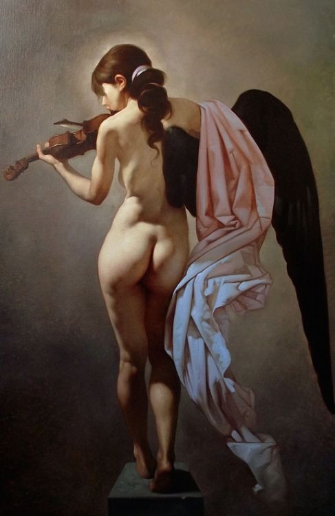 kyle-marffin: Dark-Winged Angels: Roberto Ferri Sumptuous oil...