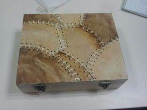 Manualidades con filtros de café: caja decorada con filtros usados