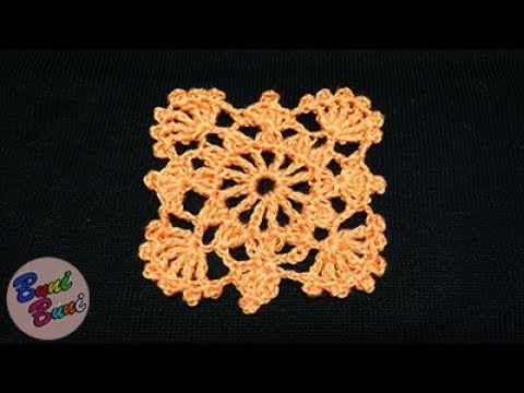 CROSETAT - Patratul bunicii - model cu picoturi(Granny square)